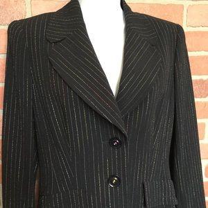 ESCADA blazer black with metallic size 36 (DD42)